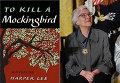 """Книга """"Убить пересмешника"""" 1960 года издания и ее автор, писательница Харпер Ли"""