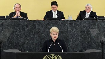 Глава Литвы Даля Грибаускайте на 68-й сессии Генеральной ассамблеи ООН