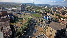 Площадь Маркса в Новосибирске, архивное фото