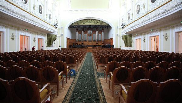 Большой зал Московской государственной консерватории имени П.И. Чайковского, архивное фото