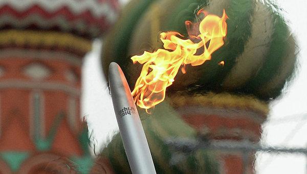 Эстафета Олимпийского огня в Москве. 7 октября 2013 года
