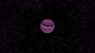 """Так художник представил себе объект PSO J318.5-22, одновременно претендующий на роль планеты-""""изгоя"""" и тусклого коричневого карлика."""