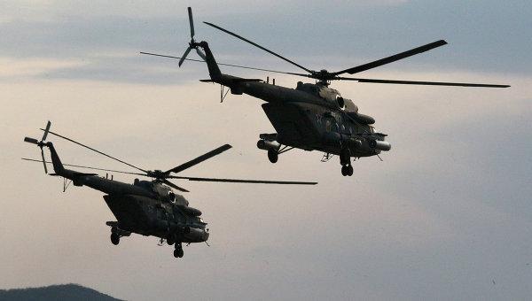Вертолеты Ми-8 АМТШ. Архивное фото