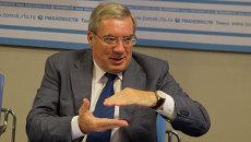 Виктор Толоконский в пресс-центре РИА Новости, архивное фото