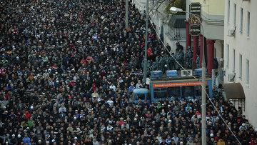 Празднование Курбан-байрама в Москве. Архивное фото