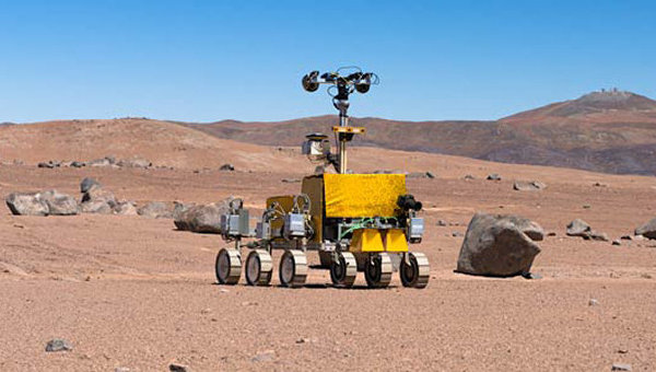 Прототип европейского марсохода, который планируется запустить в рамках проекта ЭкзоМарс