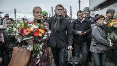 Прибытие оппозиционера А.Навального в Москву после суда в Кирове