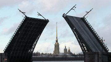 Открытие Дворцового моста в Петербурге после реконструкции