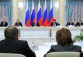 Президент РФ Владимир Путин во время заседания Совета при президенте по межнациональным отношениям в Уфе