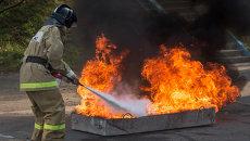 Пожарно-тактические учения с участием добровольцев в колледже Владивостока