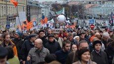 Марш оппозиции в поддержку политзаключенных, фото с места события