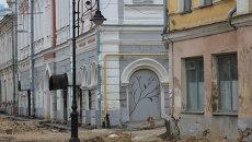 Ремонт на Рождественской улице Нижнего Новгорода, октябрь 2013