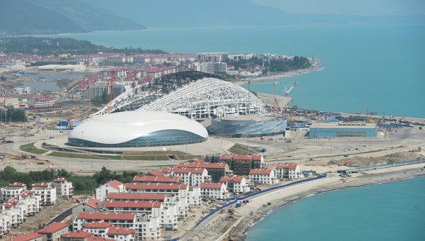Строительство Олимпийских объектов в Сочи. Архивное фото
