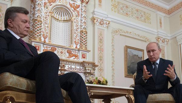 Встреча Владимира Путина с Виктором Януковичем. Архивное фото