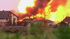 Пламя высотой 10 метров поднималось на месте взрыва газопровода в Польше