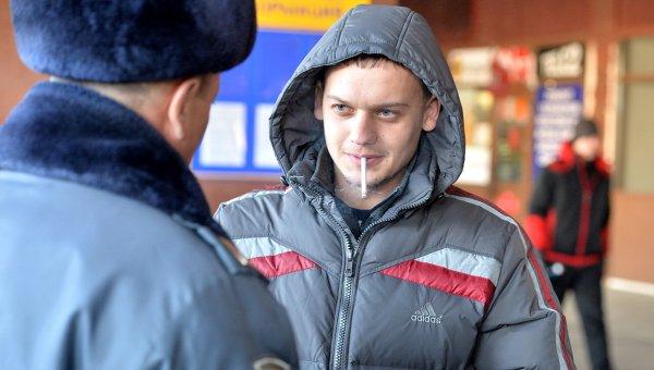 Курение в общественных местах. 15 ноября 2013