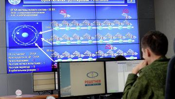 В командном пункте управления глобальной навигационной спутниковой системой (ГЛОНАСС)