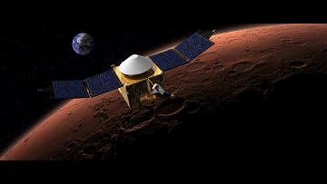 Аппарат Maven на орбите Марса. Рисунок