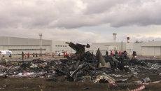 Обломки разбившегося в Казани самолета Boeing 737. Съемка с места ЧП