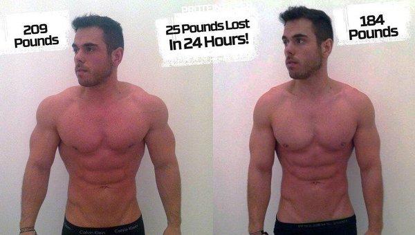 как похудеть за 1 день 10 кг