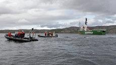 Судно Greenpeace Арктик Санрайз задержано пограничниками РФ. Архивное фото