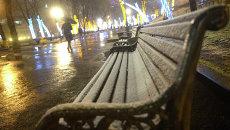 Во время снегопада в Москве