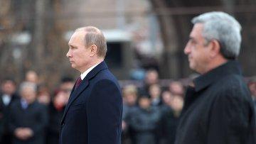 Государственный визит В.Путина в Армению, фото с места события