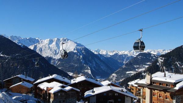 Курортная деревушка Вербье в швейцарских Альпах