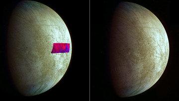 Ученые использовали снимки спутника Юпитера, Европы, сделанные зондом Галилео еще в 1998 году. Им впервые удалось рассмотреть на поверхности спутника глинистые материалы – их на Европу принесло какое-то небесное тело (комета или астероид), считают исследователи