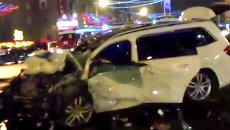 Кадры с места ДТП в Москве, где погиб вице-премьер Дагестана Гаджи Махачев