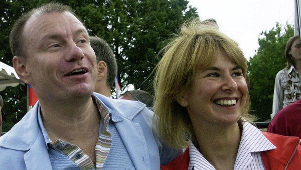 Владимир Потанин с женой Натальей. Архивное фото