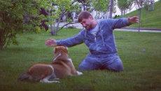 Рамзан Кадыров со своей собакой по кличке Тарзан