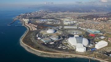 Олимпийский Сочи с борта вертолета, архивное фото