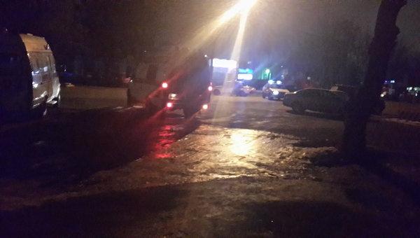 Взрыв автомобиля в Пятигорске