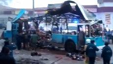 Теракт в троллейбусе в Волгограде. Кадры с места ЧП