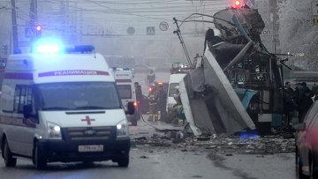 Теракт в троллейбусе в Волгограде. Фото с места события