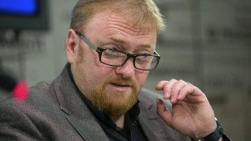 Виталий Милонов в пресс-центре РИА Новости в Петербурге.