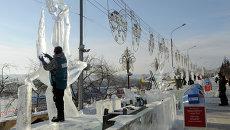 Открытый фестиваль-конкурс снежно-ледовых скульптур Волшебный лед Сибири