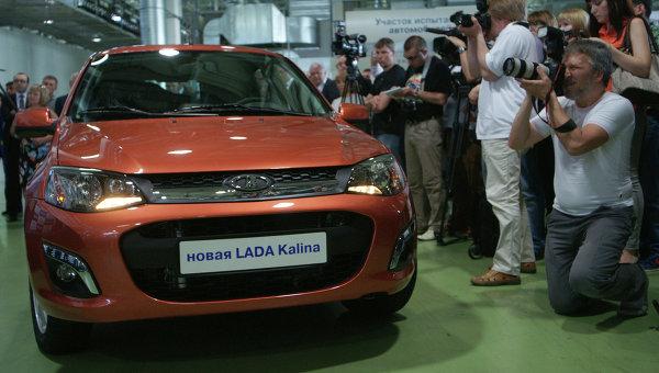 Запуск производства новой Lada Kalina на АвтоВАЗе. Архивное фото