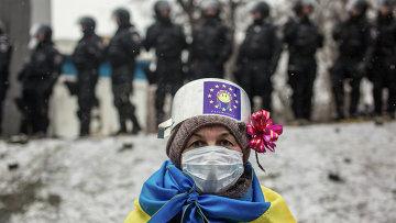Участница митингов за Евроинтеграцию. Архивное фото