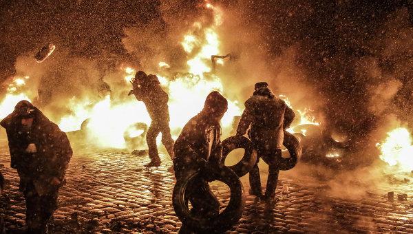 Свыше ста человек задержаны в связи с беспорядками в Киеве