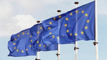 Флаги Евросоюза. Архивное фото