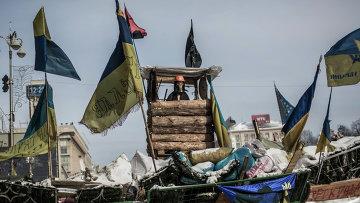 Ситуация на Майдане в Киеве в феврале 2014. Архивное фото