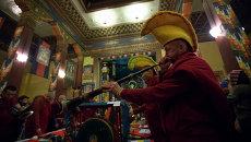 Буддийский Новогодний обряд очищения Дугжууба в Петербурге