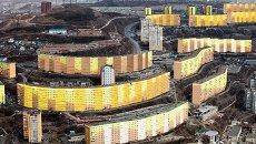 План цветовой гаммы одного из кварталов Владивостока. Архивное фото