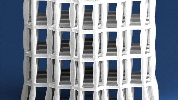 Микрофотография кусочка материала, изготовленного авторами статьи