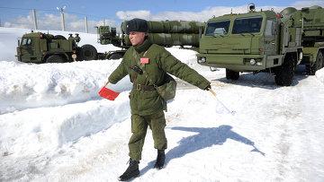 Боевое дежурство ЗРК С-400 Триумф в Московской области