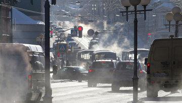 Транспорт на дорогах Томска. Архивное фото