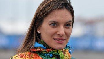 Двукратная олимпийская чемпионка и мэр олимпийской деревни Елена Исинбаева