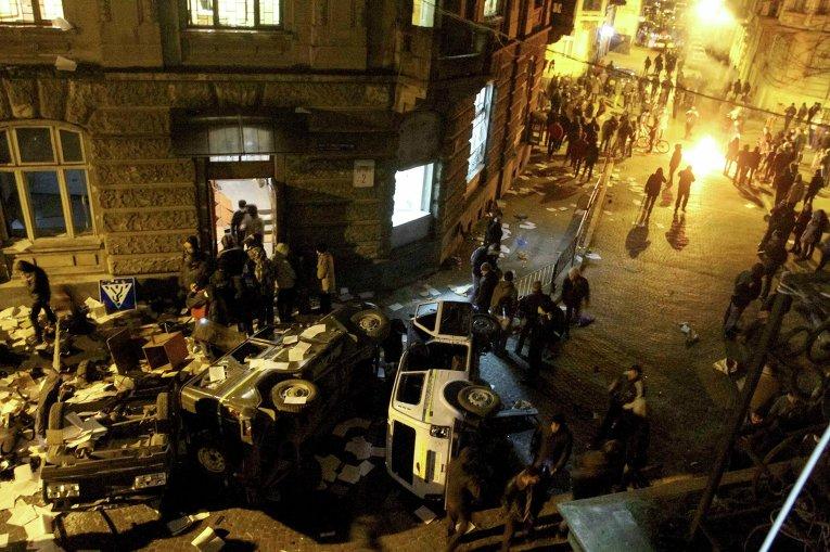 Антиправительственные протесты во Львове